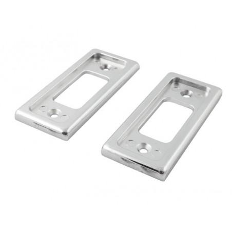 Entourage de loqué de porte acier (paire) - Chromé-Austin Mini