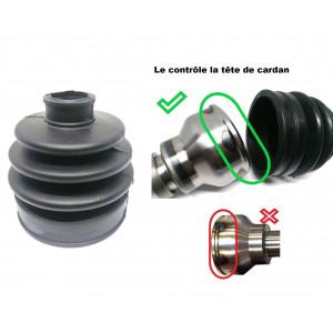 Soufflet de cardan côté roue Disque 7.5 et 8.4'' - Cardan lèvre extérieur