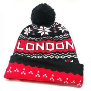 Bonnet ''London'' avec pompom