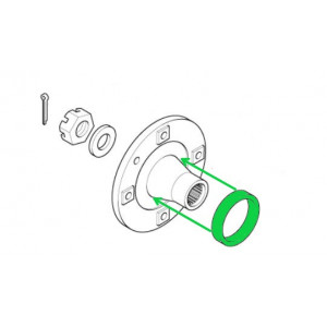 Entretoise de roulement de moyeu disque 7'' et  tambour