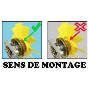 Hélice de ventilateur - NYLON TOP QUALITE - Art Classic Car Parts®