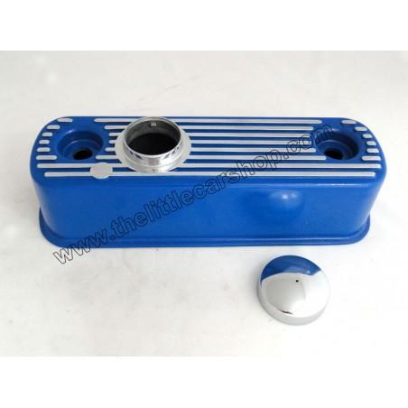 Cache culbuteur Bleu avec bouchon-Austin Mini