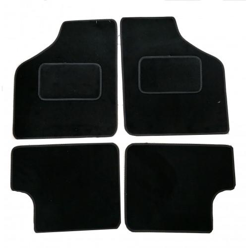 4 tapis de sol (noir)- Austin Mini
