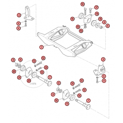 AA2S - Vue éclatée de berceau arrière