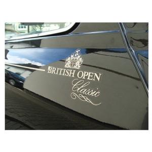 Kit de 3 Autocollants sans liseré : British Open - Austin Mini - Or