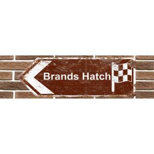 Panneau de signalisation en métal de Brands Hatch Race Circuit
