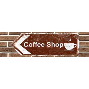 Panneau de signalisation en métal Coffee Shop