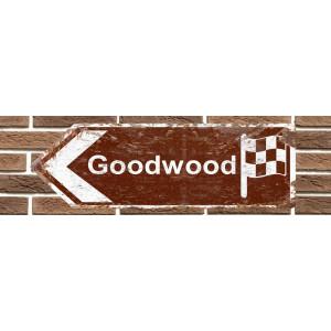 Panneau de signalisation en métal Goodwood Motor Circuit
