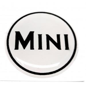 Autocollant Mini blanc (27 mm) - Austin Mini