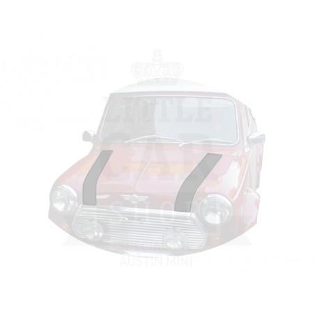 Bande de capot avant (la paire) : or - Austin Mini
