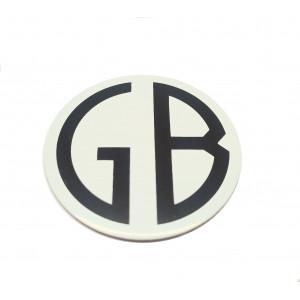 Autocollant centre de roue '' GB '' 50mm