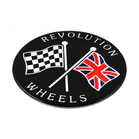 Autocollant centre de roue Révolite 70 mm-Austin Mini