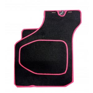 4 tapis de sol (noir) liseré rouge - Austin Mini