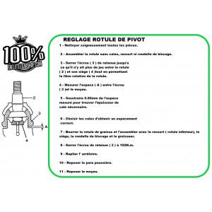 Rotule de pivot (Kit réparation) vendue x2