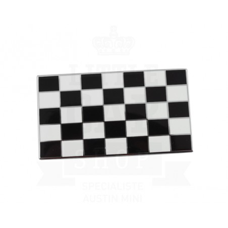 Badge drapeau damier émail à coller