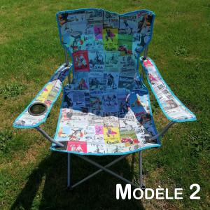 Chaise pliante (choix de l'imprimé)