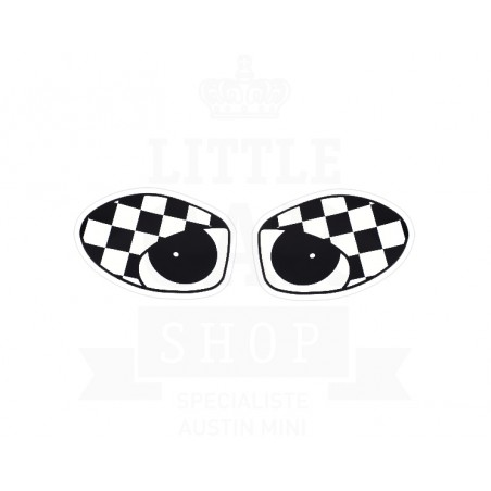 Autocollant oeil damier-Austin Mini