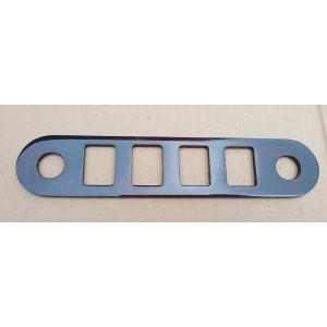 Garniture de support bouton / bois ronce de noyer / 4 boutons + 2 câbles - DESTOCK