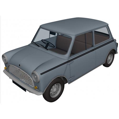Liseré de caisse 2 filets : noir - Austin Mini
