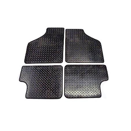 4 tapis de sol (noir) Caoutchouc - Austin Mini