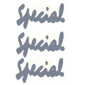 Autocollants : Spécial (SANS liserés) / Gris argent