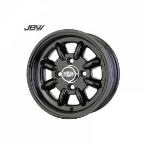 Pack 4 jantes 5x12 - Superlight - Full black brillant + Pneu