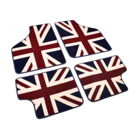 4 tapis de sol union jack (intégral) - Austin Mini