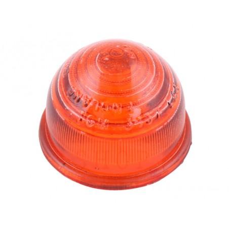 Cabochon de clignotant type lucas en verre - ORANGE
