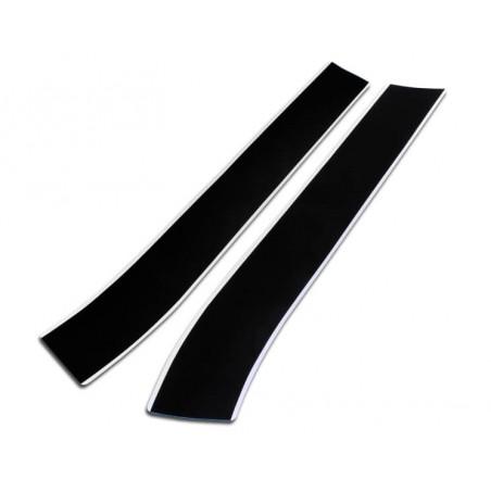 Bande de capot avant Italian Job (la paire) : noir liseré blanc