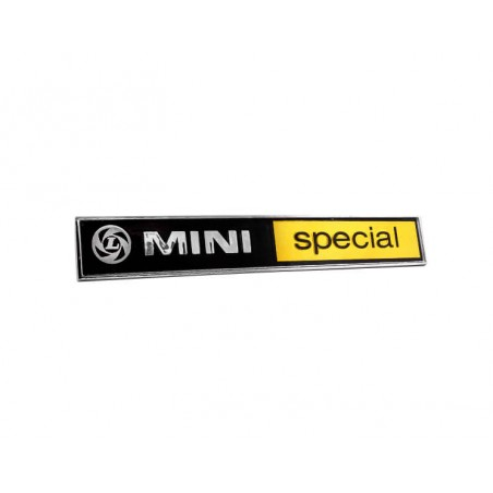Badge de malle ''Mini Special''-Austin Mini
