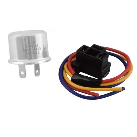 Fiche de connexion de relais clignotant et warning