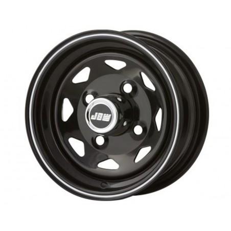 4.5 x 10 - Jante type Weller noir liseré blanc-Austin Mini