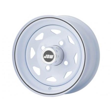 4.5 x 10 - Jante type Weller blanc liseré noir-Austin Mini