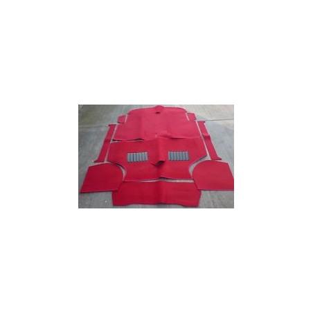 Kit moquette 10 pièces Luxe Rouge