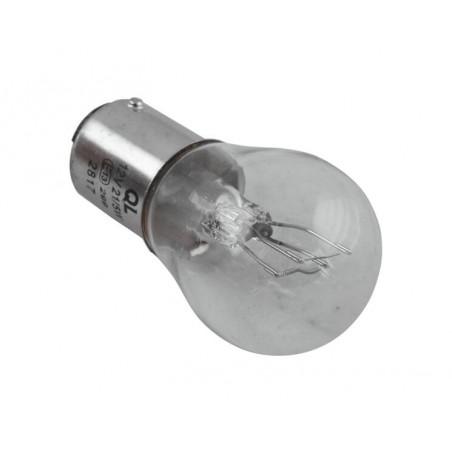 Ampoule baillonnette double filament feu et stop blanc 12v