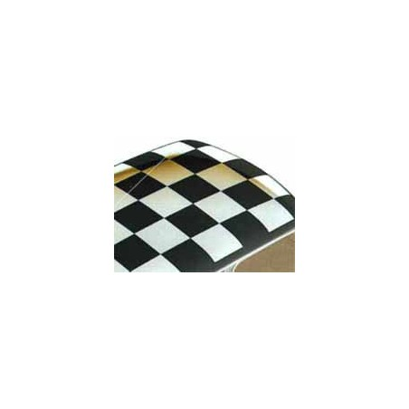 Drapeau noir damier de toit (toit blanc) - Austin Mini