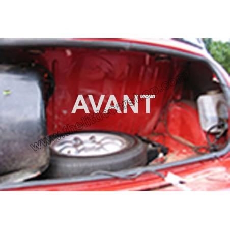 Intérieur de coffre rigide avec bandeau simili - rouge-Austin
