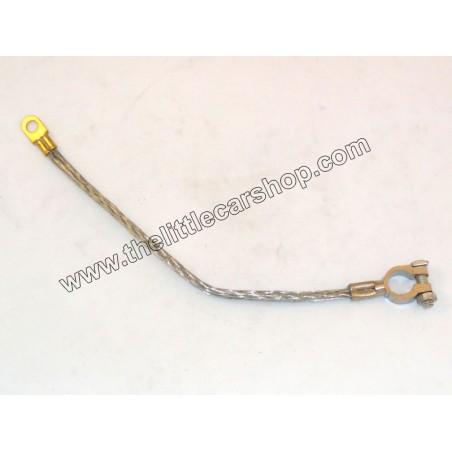 Tresse de masse avec cosse de cable de batterie - négatif - Austin Mini