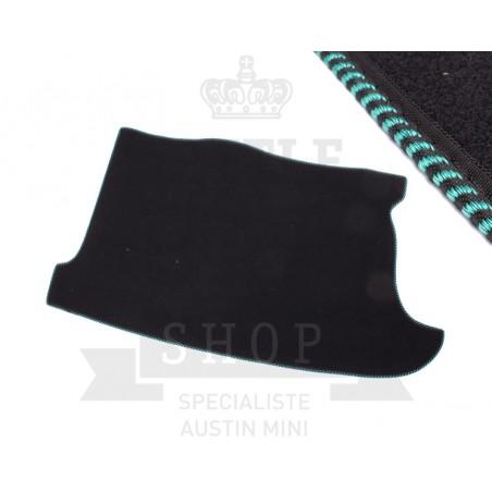 Tapis de coffre (noir) liseré noir - vert-Austin Mini