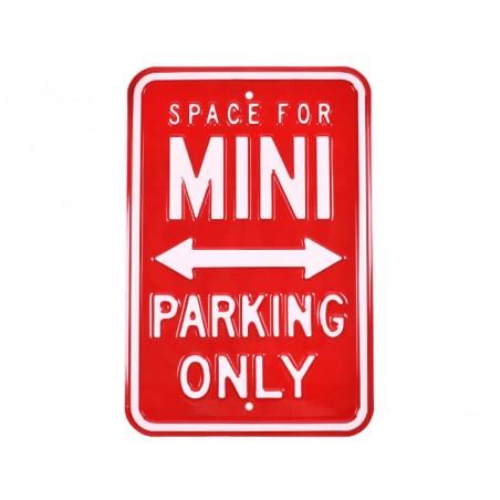 Plaque murale Mini Parking Only Rouge