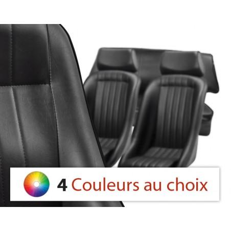 KHC-CA1 - Kit Intérieur Complet Cobra Classic Noir avec Appui-tête - Couleur liseré au choix