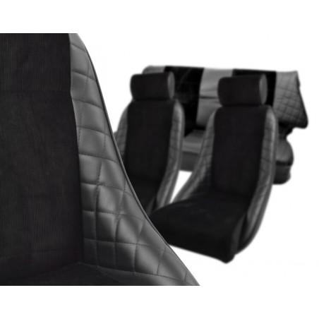 KHC-CA5 - Kit Intérieur Complet Cobra Alpine Réplica Noir avec Appui-tête