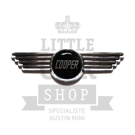 Badge de capot et de malle Cooper noir-Austin Mini