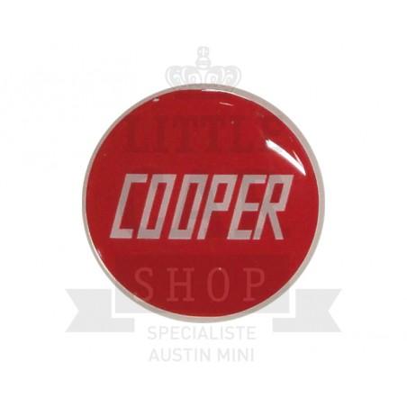 Badge de capot et de malle Cooper rouge-Austin Mini
