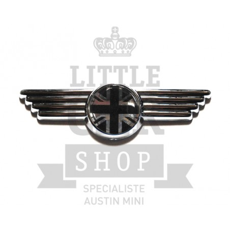 Badge de capot et de malle Union Jack (gris)-Austin Mini