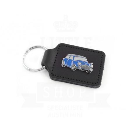 Porte clés cuir avec badge Austin Mini - 5 couleurs au