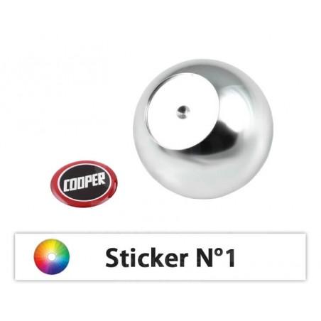 Pommeau boule avec sticker - 15 Stickers au choix-austin-mini