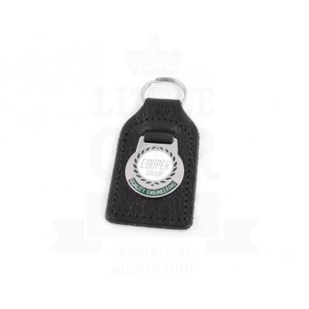 Porte clés cuir avec badge Cooper Group