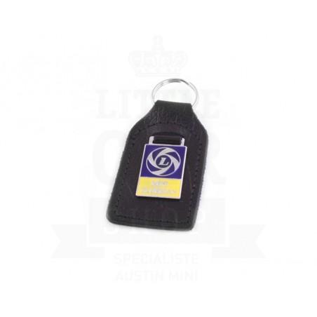 Porte clés cuir avec badge Mini Clubman