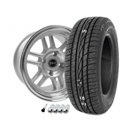 Pack Jante 7x13 - Superlight F1 - Gris-Austin Mini
